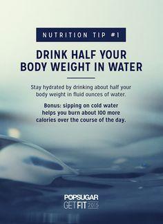 Drink Half Your Weight in Water #theyearoffollowthrough #health #wellness