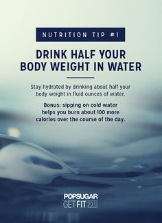 Drink Half Your Weight in Water #theyearoffollowthrough #health #wellness