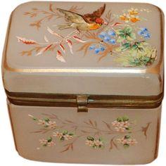 Antique French Opaline Box   1stdibs.com