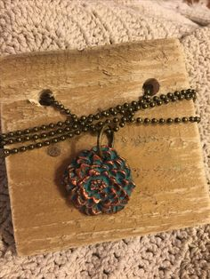 Vintage inspired Boho Chic flower necklace. Available in the Krusen Creations Etsy shop. $15 with free shipping.