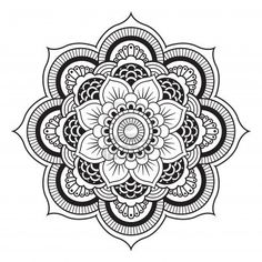☮ American Hippie Psychedelic Art ~ Mandala .. Coloring page .. Tattoo