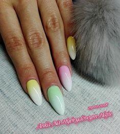 #paznokcie #manicure #hybrydy  #pazurki  #AnkaNaHybrydowymHaju #Nails #ombre #ombrenails #paznokcieombre #ombrepaznokcie Manicure, Nails, Nail Art, Beauty, Spring, Nail Bar, Finger Nails, Ongles, Polish