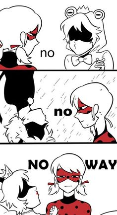 lol! Chat trying to get a Ladybug kiss (Miraculous Ladybug)