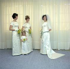 1970 bride Stella with her attendantsTrentham, New ZealandPhoto by Revelle Jackson
