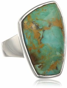 """Barse Sterling Silver """"Basics"""" Genuine Turquoise Abstract Ring - Fashion Jewelry"""