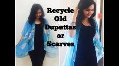 DIY: Recycle Old Dupatta or Scarve into Kimono Shrug - YouTube