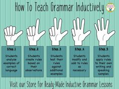 How to teach grammar inductively in the foreign language classroom