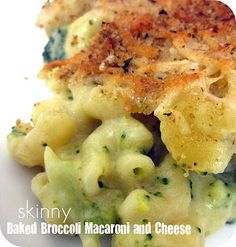 Pretty Sure it ought to read ounces instead of pounds of macaroni : ) Really like the idea of broccoli and the cheeses she uses! Skinny Baked Broccoli Macaroni and Cheese Recipe on MyRecipeMagic.com