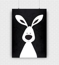 Stylish and modern rabbit illustration. Black and by GraphicCorner
