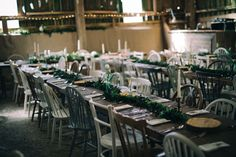 Chloe and Sam's modern spring woodland wedding with earthy organic decor, gold dipped feathers, and lush green and white florals Long Table Wedding, Mismatched Chairs, Wedding Company, Bride Photography, Grace Loves Lace, Wedding Table Decorations, Gold Dipped, Woodland Wedding, Lush Green