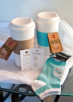 coffee sleeves from holiday socks