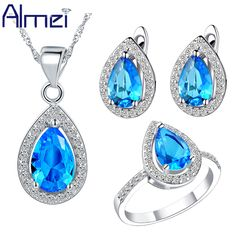 Find More Jewelry Sets Information about Almei Fashion Wedding Jewellery 925 Silver Blue Necklace Set Women Red Crystal Earring Sets Ruby Ring Brinco Jewelry Set  T246,High Quality set gun,China set guitar Suppliers, Cheap set generator from ULove Fashion Jewelry Store on Aliexpress.com
