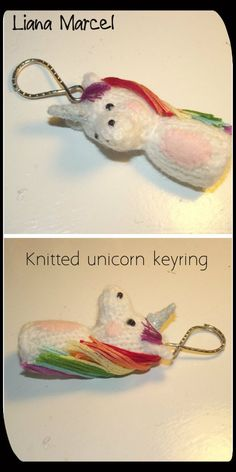 c… Cute and quirky little key adornment. You could make this in any colour and requires a good understanding of basi… Crochet Christmas Trees, Christmas Knitting Patterns, Knitting Patterns Free, Free Knitting, Free Pattern, Crochet Patterns, Unicorn Knitting Pattern, Crochet Unicorn, Unicorn Christmas Decoration