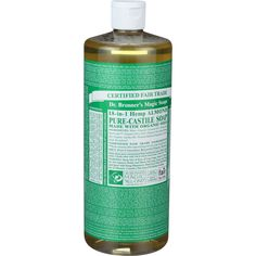 Dr. Bronner's Pure Castile Soap - Fair Trade And Organic - Liquid - 18 In 1 Hemp - Almond - 32 Oz