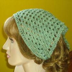 Easy - Free crochet pattern for a kerchief using a size 3 crochet cotton.
