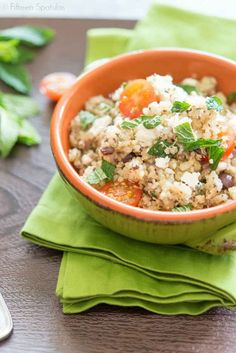 Quinoa Salad with Feta and Chia Seeds. I just started to add this to my meals, and I love it! I feel full, have a lot more energy, and have lost some weight. - SRH