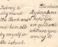 Letter seven year old Churchill wrote to his mother.