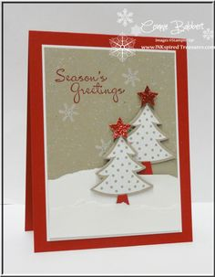Scentsational Seasons, More Merry Moments, & Holiday framelits were used in Connie's cute card!