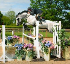 That jump is so wide! love that horse