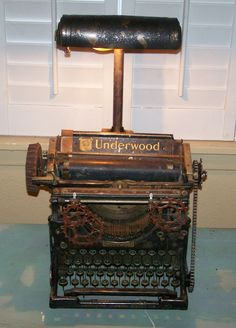 Steampunk typewriter lamp/ J Dooley