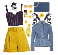 """denim & yellow"" by clairsnotebook ❤ liked on Polyvore featuring 3x1, Schutz, Miu Miu, Isa Arfen, Alexander McQueen, Boum, Dolce&Gabbana and Linda Farrow"