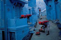 「ブルーシティ」と呼ばれる城塞都市、ジョドプール(インド)