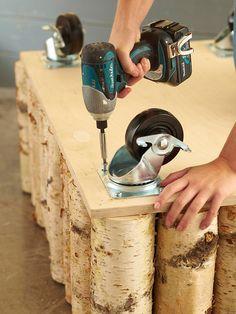 DIY birch coffee table