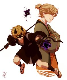 (Miraculous: Tales of Ladybug and Cat Noir) Cat Noir/Adrien and Plagg