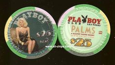 #LasVegasCasinoChip of the day is a $25 Playboy Club at the Palms Anna Nicole Smith you can get here https://www.all-chips.com/ChipDetail.php?ChipID=8498 This is one of the 2 chips made up for her.  They also made 3 $5s.  #CasinoChip #LasVegas