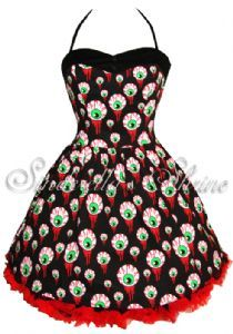 "Hell Bunny ""Perry"" Gorey Eyeball Dress  I wish I had this for prom. lol"
