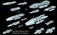 Fleet Of Ships, Sci Fi Ships, Stargate, Kampfstern Galactica, Battlestar Galactica 1978, Starship Concept, Sci Fi Spaceships, Spaceship Design, Concept Ships