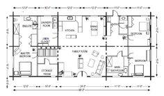 Log Cabin Floor Plans | Gastineau Log Homes - Log Home Floor Plans - Log Cabin House Plans