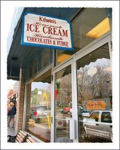 Kilwins Homemade Ice Cream and Handmade Chocolates and Fudge in Downtown Blowing Rock North Carolina Mountains