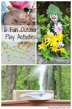 6 Fun Outdoor Play Activities ~ Perfect for summer