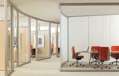 Curved walls of glass! Folding Partition, Folding Walls, Glazed Walls, Modular Walls, Curved Walls, Office Furniture, Furniture Ideas, Interior Design, Architecture