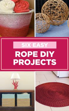 6 Easy Rope DIY Projects ✨