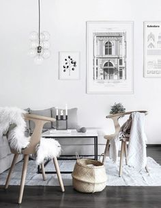 Only Deco Love: Winter Living Room Makeover all white and grey, with soft wooly textures and scandinavian styling Small Living Room Layout, Small Living Rooms, My Living Room, Living Room Interior, Living Room Designs, Living Room Furniture, Living Room Decor, Interior Livingroom, Furniture Decor