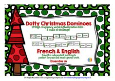 Dotty Christmas Dominoes - 198 High-frequency French Verbs, with 2 levels of challenge...