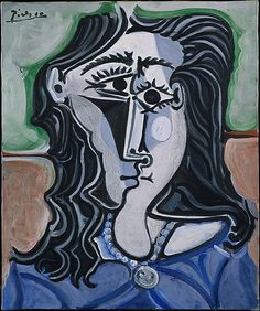 © 2010 Estate of Pablo Picasso/Artists Rights Society (ARS), New York; used with permission - © 2010 Estate of Pablo Picasso / Artists Right. Picasso Cubism Paintings, Portrait Picasso, Art Picasso, Picasso Collage, Face Paintings, Portraits Cubistes, Cubist Portraits, Pastel Portraits, Abstract Portrait