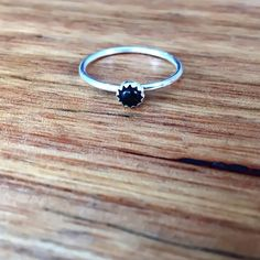 Image of Black Onyx Navajo Ring [NV01]