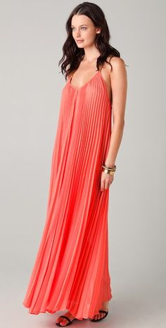 BCBGMAXAZRIA Edita Pleated Maxi Dress