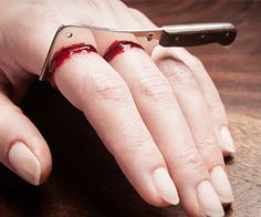 Bloody Cleaver Ring: Just the accessory you'll need to put the finishing touches on any Halloween costume.