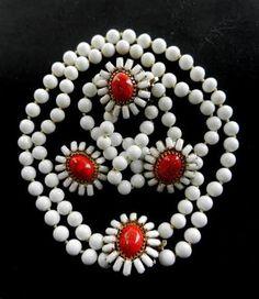 orange milk glass jewelry -