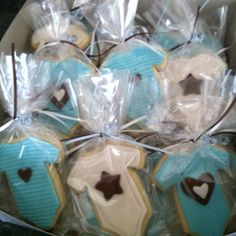 Onesie Cookie Favors for Boy Baby Shower - June 2012