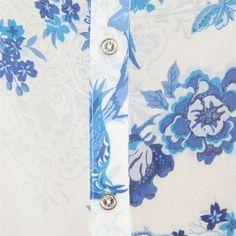 Chemiser imprimé japonisant bleu #Exotic #Mix #Pimkie