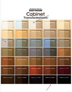 I just completed my cabinets using this product. My cabinets were a yellow Oak color and I used the Cabernet. They looks great. ANd it was easy to use.