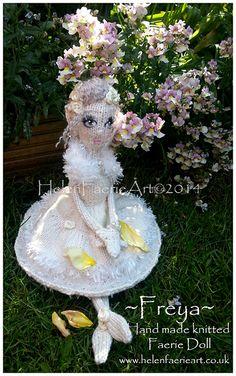 I hope you like my newest Faerie Doll... ~Freya~ #Handmade #knitted #Bridal #Faerie #Doll www.helenfaerieart.co.uk  ĦelenFaerieÅrt ©2014