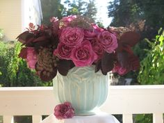 SLOW FLOWERS: Week featuring American-grown old garden roses, smoke bush foliage and pink Queen Anne's lace. Smoke Tree, Mock Orange, Peonies Garden, Garden Roses, Yellow Bouquets, Potato Vines, Queen Annes Lace, Parts Of A Plant, French Lavender