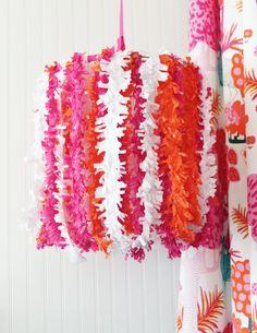 #DIY Tissue Fringe #Chandelier- just pick your #nursery colors!