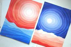 Desert landscapes, tonal painting. Very effective great art blog!
